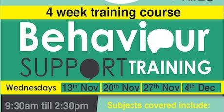Behaviour Support Training - 4 week course tickets