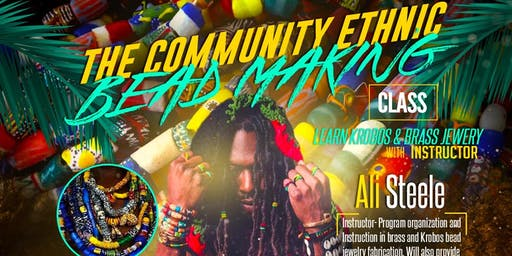 The Community Ethnic bead making class with Ali Steele at DuPp n swatt