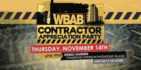WBAB Contractor Appreciation Party tickets