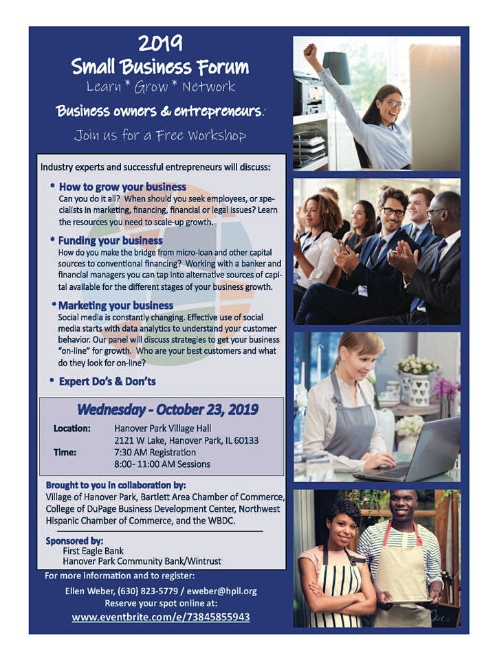 4th Annual Hanover Park Small Business Education Forum image