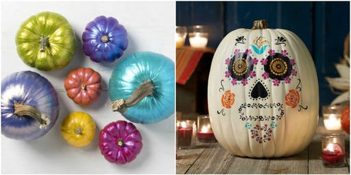 Pumpkin Painting and Pizza Party