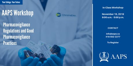 Pharmacovigilance Regulations and Good Pharmacovigilance Practices tickets