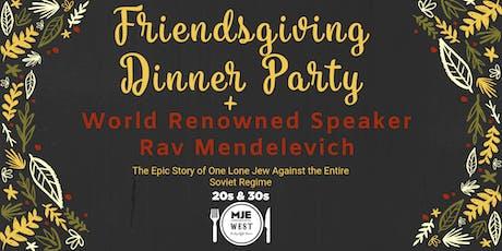 "20s & 30s MJE ""Friendsgiving""  NYC Shabbat Dinner  + Open Bar tickets"