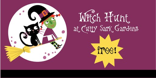 Witch Hunt at Cutty Sark Gardens as part of the halloween market