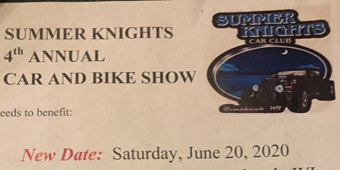 Summer Knights Annual Car and Bike Show