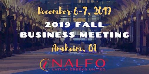 NALFO National Business Meeting - Fall 2019
