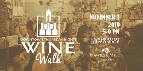 Monroe Downtown Wine Walk 2019 tickets