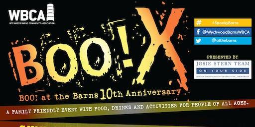Boo X! Boo! At the Barns 10th Anniversary!