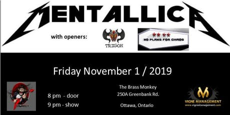 Mentallica at The Brass Monkey tickets
