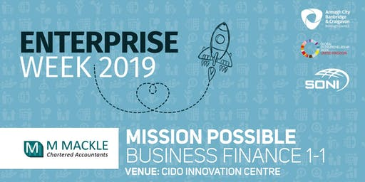 Mission Possible: Business Finance 1-1 CIDO Innovation Centre