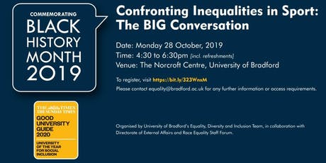 Confronting Inequalities in Sport: The Big Conversation tickets