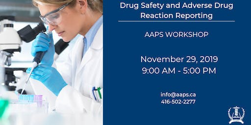 Drug Safety and Adverse Drug Reaction Reporting