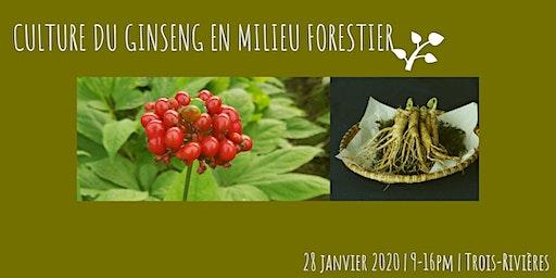 FORMATION: CULTURE DU GINSENG EN MILIEU FORESTIER