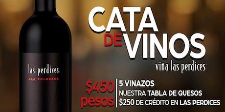 Cata de Vinos Bodega Las Perdices entradas