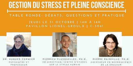 Table ronde : gestion du stress et pleine conscience billets