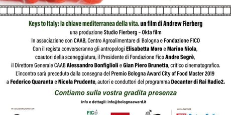 Bologna Award 14/10/19: Decanter Rai Radio 2 e Keys to Italy biglietti