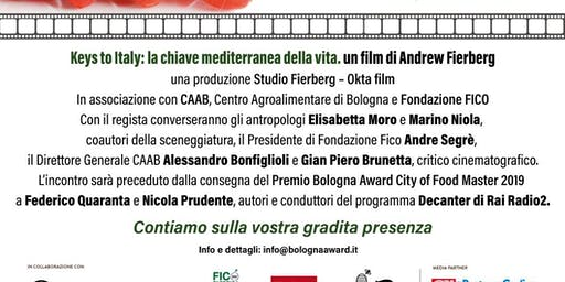 Bologna Award 14/10/19: Decanter Rai Radio 2 e Keys to Italy