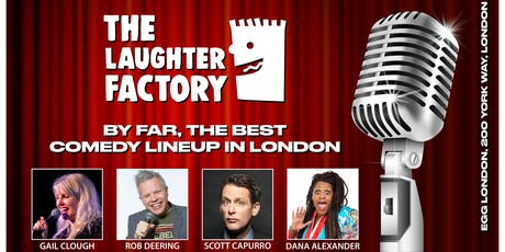 The Laughter Factory Comedy Club, opens at Egg London in Kings Cross tickets