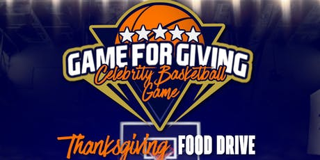 NFL vs NBA Celebrity Basketball 'Game for Giving' Community Food Drive tickets