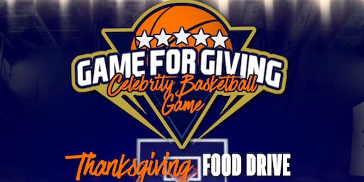 NFL vs NBA Celebrity Basketball 'Game for Giving' Community Food Drive