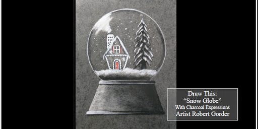 "Charcoal Drawing Event ""Snow Globe"" in Madison"