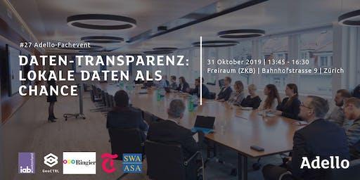 ADELLO FACHEVENT #27 Daten-Transparenz: Lokale Daten als Chance