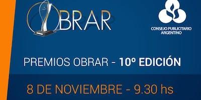 Premios Obrar, 10 ma. edición