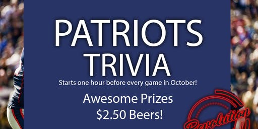 Patriots Trivia before the Game!