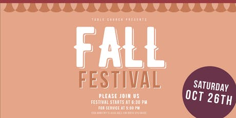 Fall Festival at Table Church tickets