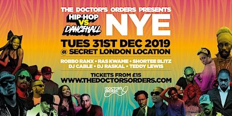 Hip-Hop vs Dancehall - New Year's Eve tickets