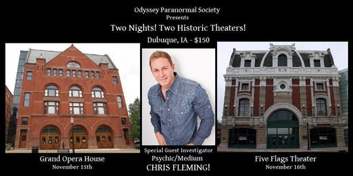 Two Historic Theaters Paranormal Event!