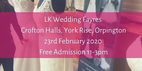 BIG Wedding Fayre, Crofton Hall , Orpington tickets