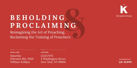 Beholding and Proclaiming tickets