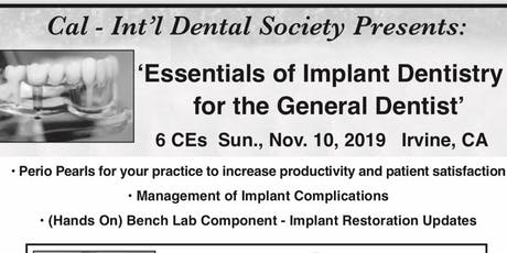 Essentials of Implant Dentistry for the General Dentist tickets