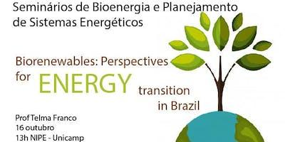 Seminário Biorenewables: perspectives for energy transition in Brazil