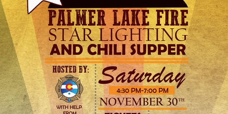 Palmer Lake Fire Department Star Lighting and Chili Supper tickets