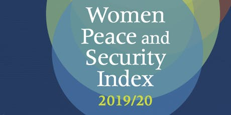 Launch of the Second Edition of the Women, Peace and Security Index tickets