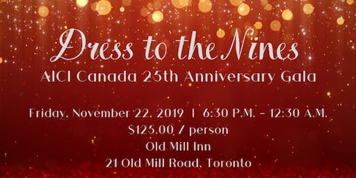 Dress to the Nines Gala Dinner and Dance - AICI Canada Celebrates 25 Years