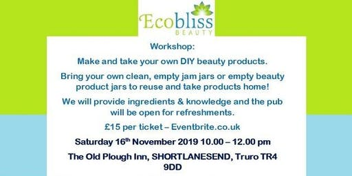 Workshop: Make & Take your own DIY Beauty Products