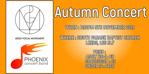 An Evening With Leeds Vocal Movement and Phoenix Concert Band