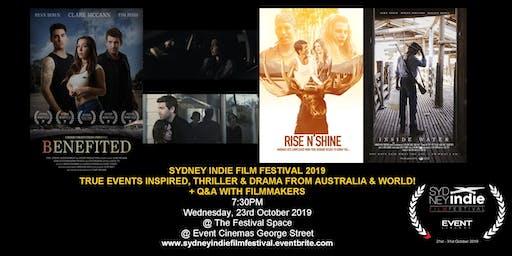 Sydney Indie Film Festival 2019 – Thriller Drama & True Stories
