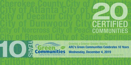 Growing a Greener Greater Atlanta:  Green Communities Celebrates 10 Years tickets