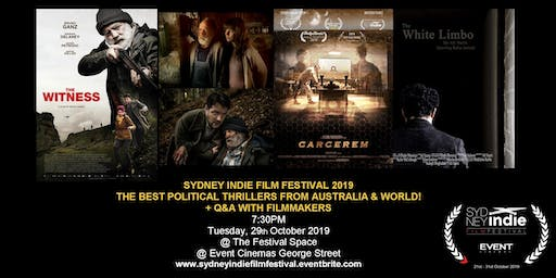 Sydney Indie Film Festival 2019 – Political Thriller Movies Night!