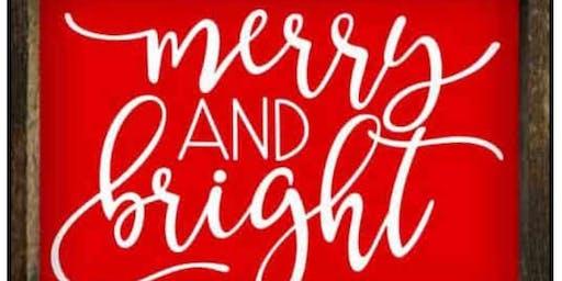 Vinyl Christmas Sign