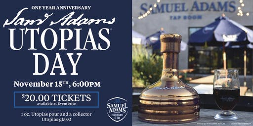 Celebrate the Cincinnati Taproom's 1 Year Anniversary with Utopias on Tap