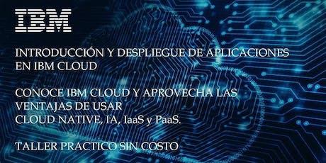 Introducción y despliegue de aplicaciones en IBM cloud bilhetes