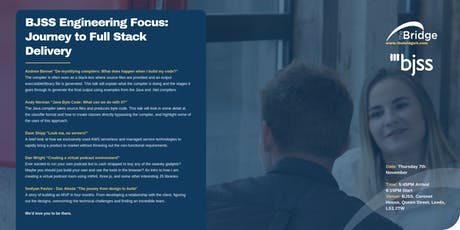 BJSS Engineering Focus: Journey to Full Stack Development tickets