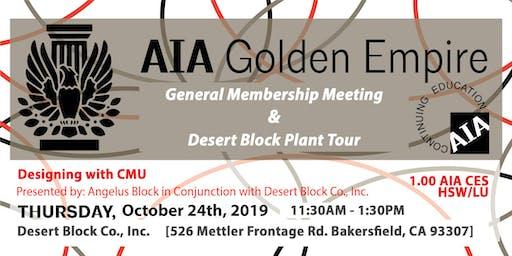 October 2019 | AIAGE CEU LUNCH & LEARN & TOUR | Desert Block Co., Inc.