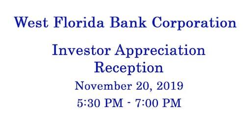West Florida Bank Corporation Investor Appreciation