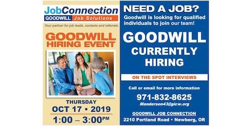 Goodwill is Hiring - Newberg - 10/17/19